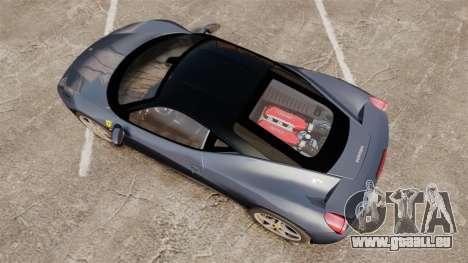 Ferrari 458 Italia für GTA 4 rechte Ansicht