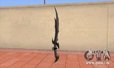 L'épée de Skyrim pour GTA San Andreas deuxième écran