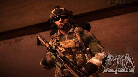 Ranger из Call Of Duty: Ghosts pour GTA San Andreas quatrième écran