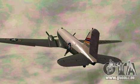 C-47 Dakota de l'USAF pour GTA San Andreas vue arrière