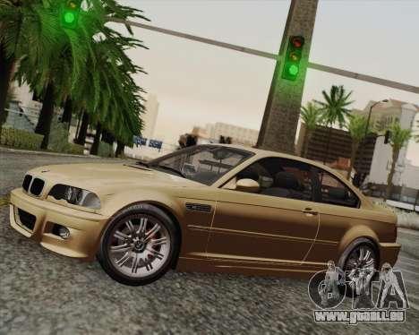 BMW M3 E46 2005 pour GTA San Andreas sur la vue arrière gauche