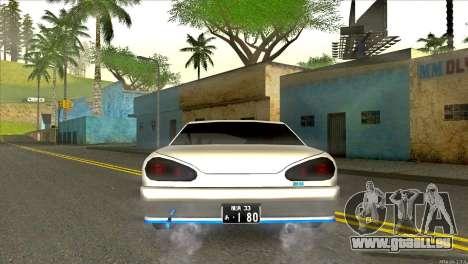 Elegy Neli pour GTA San Andreas sur la vue arrière gauche