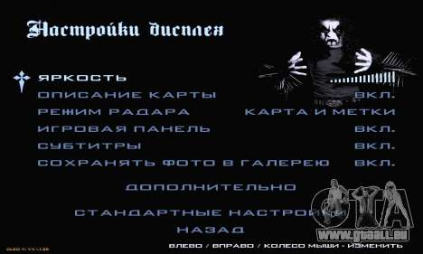 Black Metal Menu für GTA San Andreas siebten Screenshot