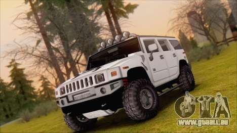 Hummer H2 Tunable pour GTA San Andreas vue de côté