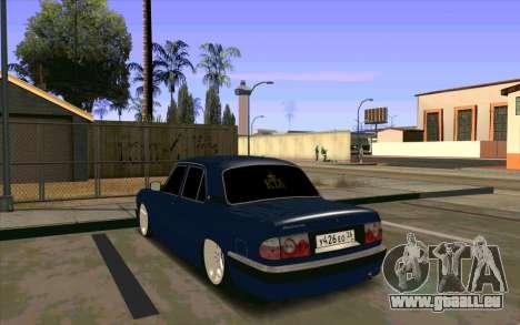 GAZ 31105 pour GTA San Andreas vue intérieure