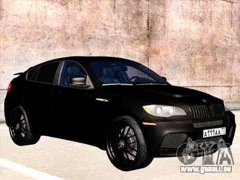 BMW X6 Hamann pour GTA San Andreas vue de dessous