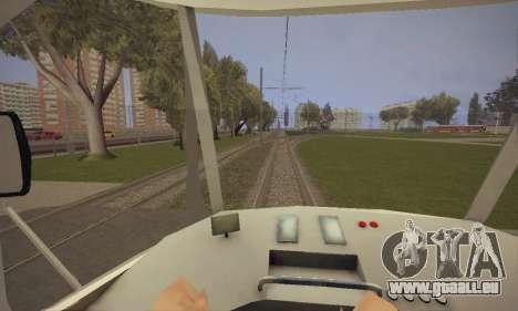 Tatra T3SU für GTA San Andreas Rückansicht