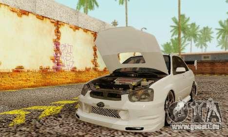 Subaru Impreza WRX Stock pour GTA San Andreas laissé vue