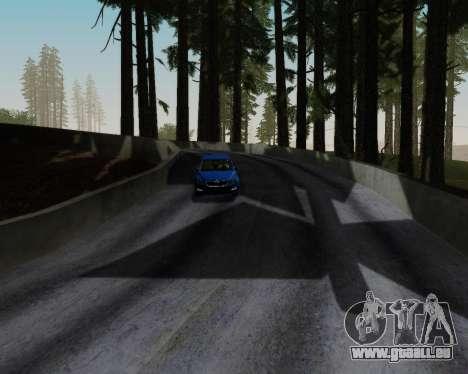 Skoda Octavia A7 RS pour GTA San Andreas vue de dessous