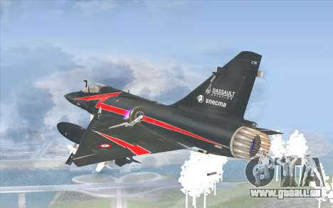 Dassault Mirage 2000-C pour GTA San Andreas laissé vue