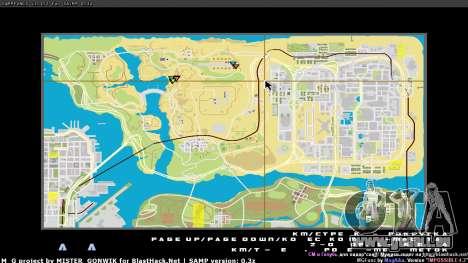 Carte en temps réel pour GTA San Andreas troisième écran