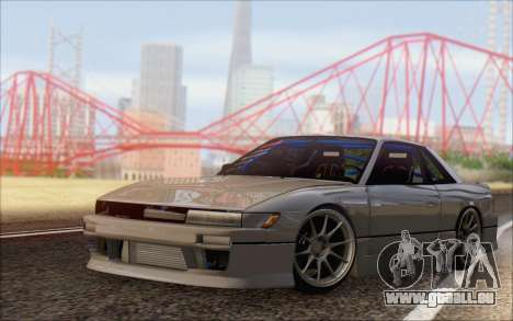 Nissan Silvia S13 Vertex für GTA San Andreas zurück linke Ansicht