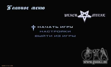 Black Metal Menu pour GTA San Andreas deuxième écran