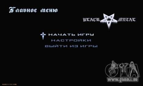 Black Metal Menu für GTA San Andreas zweiten Screenshot