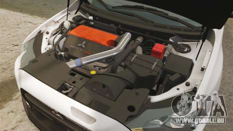 Mitsubishi Lancer Evolution X FQ400 (Cor Rims) pour GTA 4 est une vue de l'intérieur
