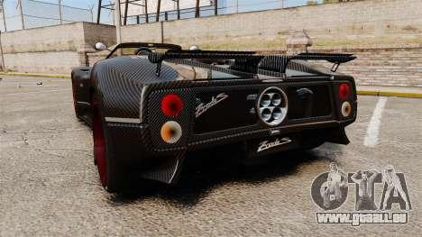 Pagani Zonda C12 S Roadster 2001 PJ3 pour GTA 4 Vue arrière de la gauche