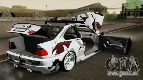 BMW M3 E46 Camo für GTA San Andreas Innenansicht