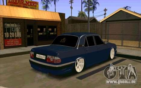 GAZ 31105 für GTA San Andreas Rückansicht