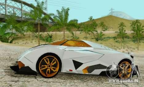 Lamborghini Egoista für GTA San Andreas linke Ansicht