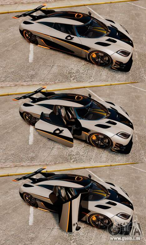 Koenigsegg One:1 [EPM] pour GTA 4 vue de dessus