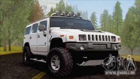 Hummer H2 Tunable pour GTA San Andreas vue intérieure