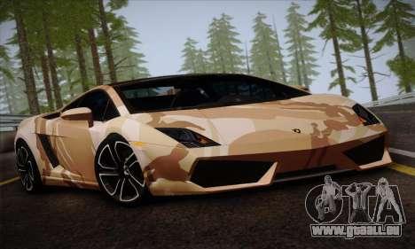 Lamborghini Gallardo LP560-4 für GTA San Andreas Rückansicht