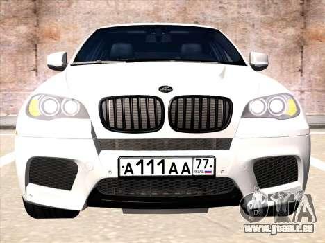 BMW X6 Hamann pour GTA San Andreas laissé vue