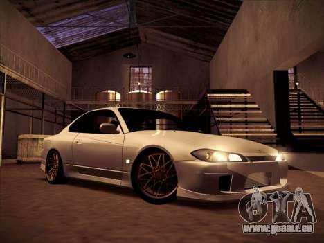 Nissan Silvia S15 Stanced für GTA San Andreas Rückansicht