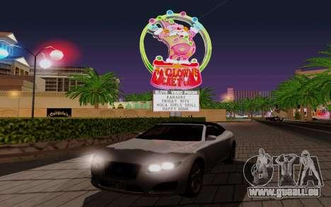GTA 5 Lampadati Felon GT V1.0 für GTA San Andreas Innenansicht