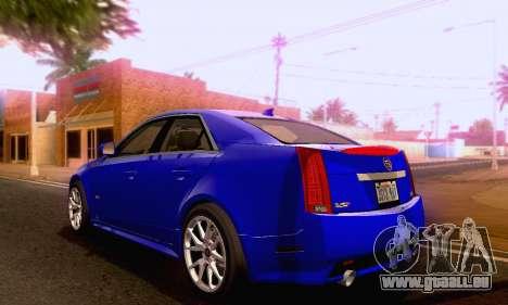 Cadillac CTS-V Sedan 2009-2014 pour GTA San Andreas laissé vue