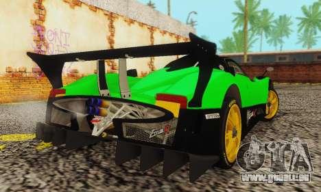 Pagani Zonda Type R Green für GTA San Andreas zurück linke Ansicht