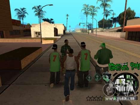 C-HUD Groove Street für GTA San Andreas achten Screenshot