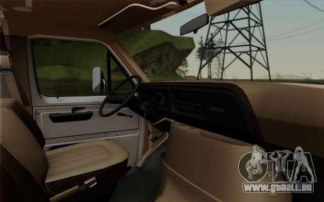 Ford E-350 1982 für GTA San Andreas rechten Ansicht
