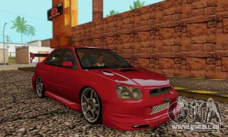 Subaru Impreza WRX Lager für GTA San Andreas Rückansicht