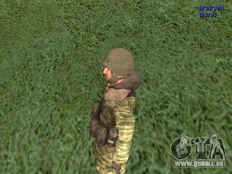 Militaire en tenue de camouflage pour GTA San Andreas troisième écran