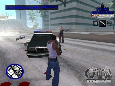 С-Hud Département De La Police De pour GTA San Andreas quatrième écran