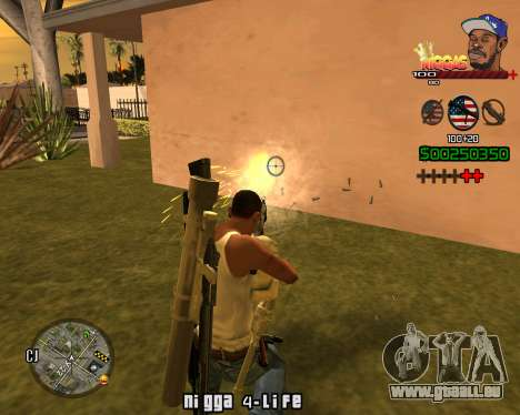 C-HUD Niggas pour GTA San Andreas quatrième écran