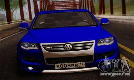 Volkswagen Touareg 2010 pour GTA San Andreas sur la vue arrière gauche