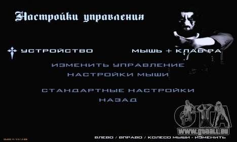 Black Metal Menu pour GTA San Andreas cinquième écran
