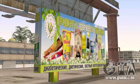 Boutique De Nourriture Saine pour GTA San Andreas deuxième écran