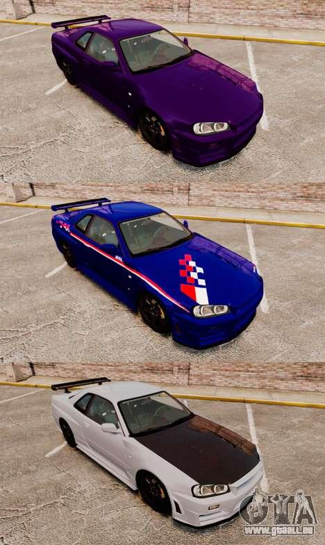 Nissan Skyline R34 Nismo Z-Tune für GTA 4 obere Ansicht