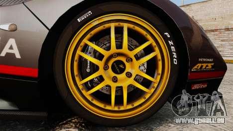 Pagani Zonda C12 S Roadster 2001 PJ4 pour GTA 4 Vue arrière