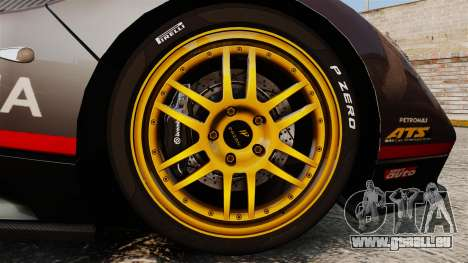 Pagani Zonda C12 S Roadster 2001 PJ4 für GTA 4 Rückansicht