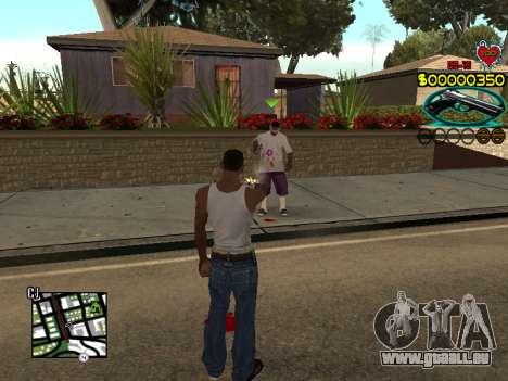 C-HUD Guns pour GTA San Andreas quatrième écran