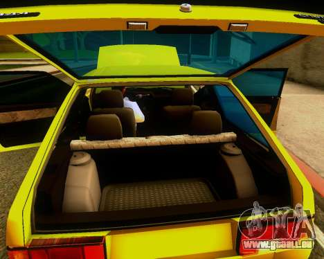 VAZ 2108 Tuneable für GTA San Andreas Innenansicht