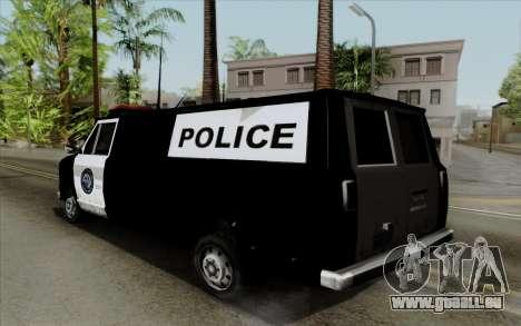 S.W.A.T van für GTA San Andreas linke Ansicht