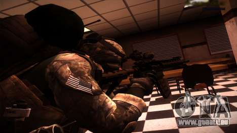 Ranger из Call Of Duty: Ghosts pour GTA San Andreas deuxième écran