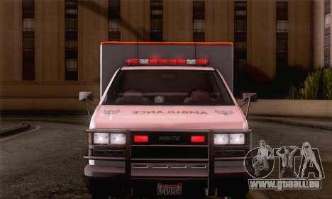 GTA 5 Ambulance pour GTA San Andreas sur la vue arrière gauche