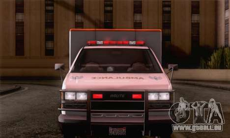 GTA 5 Ambulance für GTA San Andreas zurück linke Ansicht