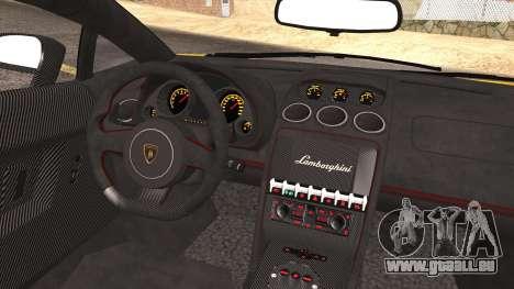 Lamborghini Gallardo LP570-4 Edizione Tecnica für GTA San Andreas Unteransicht